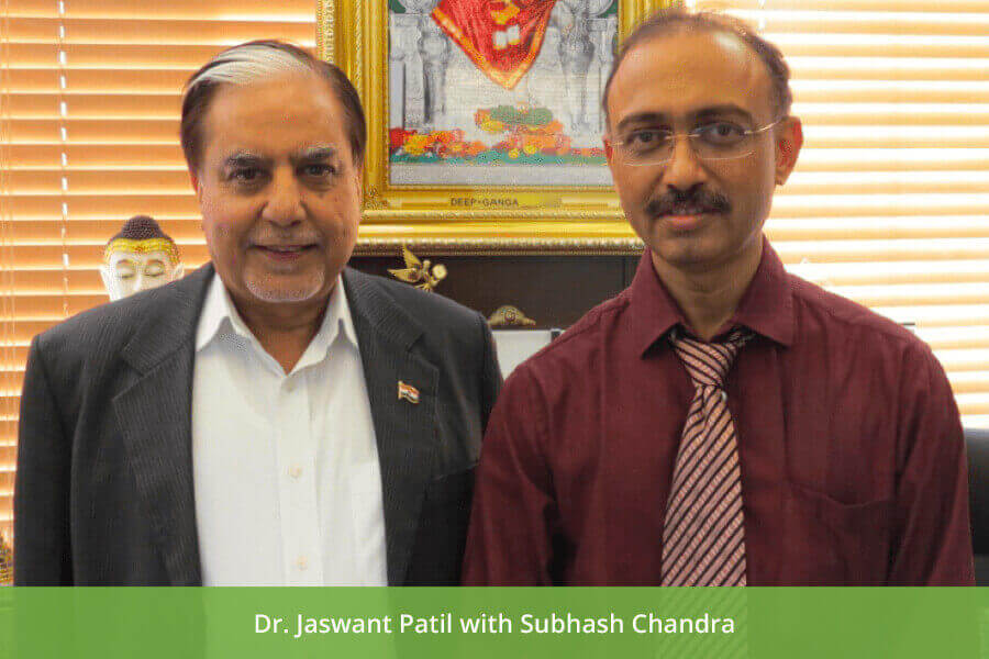 Dr Jaswant Patil with Subhash Chandra